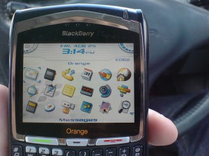 Blackberry with edge